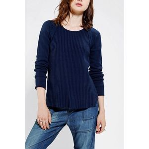 Sparkle & Fade Sweaters - Urban Outfitters Blue Sparkle Fade Leather Sweater